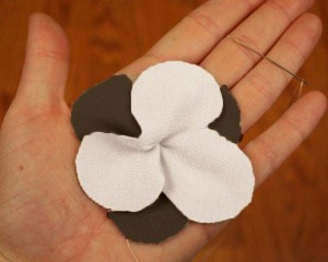 Fabric Flower Cut Out Photo