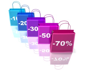 Image of Shopping Bags Depicting an After Christmas Sale