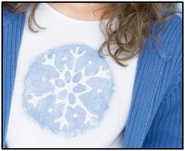 Snowflake Embellished T-Shirt