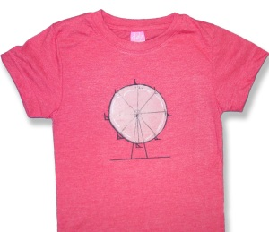 Ferris Wheel Day T-Shirt Craft - finished product