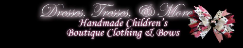 Image of a Boutique Craft Company Logo-Dresses Tresses and More