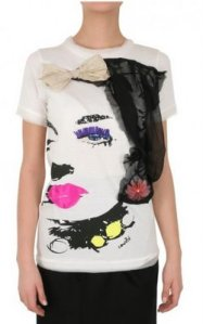 T-Shirt with Free-hand Paint Design