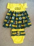 Infant Dress Green Bay Colors