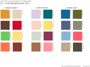 The Color Association of the United States Spring-Summer 2012 Palette