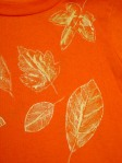 Fall Leaf T-Shirt - a Close Up View