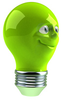 No Cost Ways to Cut Your Energy Costs - Image of Green Light Bulb