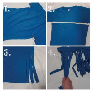 Directions for Turning a T-Shirt into a Scarf