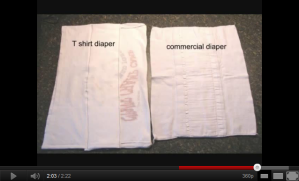 Turn Your T-Shirt into a Diaper