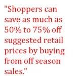 Saving Money by Buying Off Season