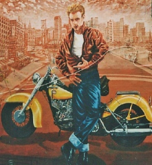 James Dean in Rebel Without a Cause - Blue Jeans