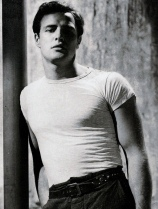 Marlon Brando wearing a t-shirt in A Streetcar Named Desire