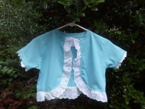 Turning a T-Shirt into a Bolero Jacket - The Finished Product