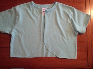 Turn a T-Shirt into a Bolero Jacket.   Cut the Front of the Shirt Up the Middle