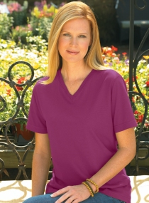 Plum Womens V-Neck Tee